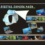 5.0 Mega pixels Digital Dive Camera Mask, Resolution: 2592*1944, built-in LED flash light