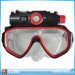 720P Recording Under Water /Underwater Waterproof Diving Mask Video Sports ,Supporting 32GB TF card