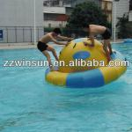 Adult play inflatable totter, seesaw on water park