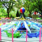 Amusement water play equipment rotary dolphin rides