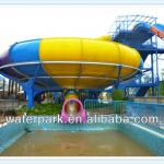 Aqua Park Slide, Family Play outdoor Fiberglass Water Slides 18m Height