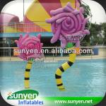 Cartoon flower design water play equipment,water play for sale