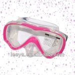 child skin snorkel mask ,bright color dive mask for kids