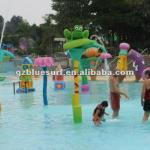 Children play in the water equipment