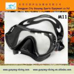 China single lense scuba diving masks, adult underwater mask face