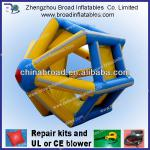 Durable colorful PVC/TPU inflatable roller ball in water play equipment
