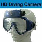 HD 720p diving maks camera waterproof 40m