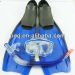 High Quality Scuba Diving Mask Snorkels Flippers Dry Breathing Tube Diving Fins Audlt/Children Professional Scuba Diving Set