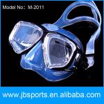 High quality tempered glass lens silicone headstrap and gasket adult dive mask