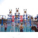 Large water slide for water park aquatic slide