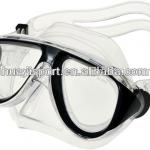 Professsional waterproof silicone custom single lens diving mask