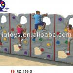 RC-156-3 Hotsale Outdoor Kids Plastic Rock Climbing Wall Play Game