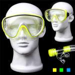 Scuba Diving Snorkeling Silicone Mask Set (Random Color Delivery)