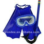 Teenager kids children diving swimming set mask & snorkel & fins