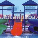 Water part equipment amusement water slide