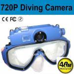 waterproof 40m HD 720p diving maks mini dv